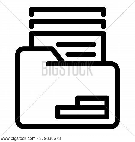 Archive Folder Icon. Outline Archive Folder Vector Icon For Web Design Isolated On White Background