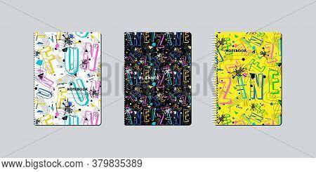 Artistic Notebook Covers Design. Zine Culture Pattern