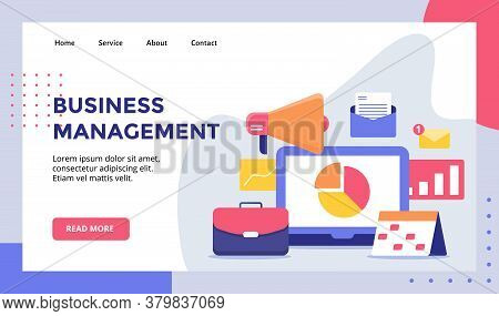 Business Management Concept Campaign For Web Website Home Homepage Landing Page Template Banner With
