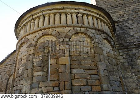 Detail Of The Romanesque And Mozarabic Church Of San Pedro De Larred (inclouded In The Route Of The