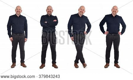 Portrait Of A Person Standing With Various Poses