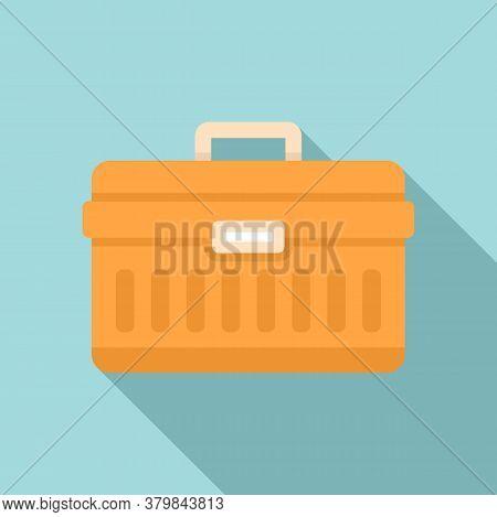 Window Installation Tool Box Icon. Flat Illustration Of Window Installation Tool Box Vector Icon For