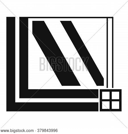 Windows Section Icon. Simple Illustration Of Windows Section Vector Icon For Web Design Isolated On