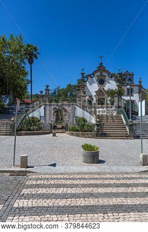 Viseu / Portugal - 07/31/2020 : Exterior View Of The Church Of Nossa Senhora Da Conceicao, A Rococo
