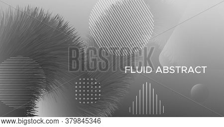 Vector Wave Abstract. Fluid Gradient Movement. Dynamic Template. Liquid Digital Wave Abstract. Futur