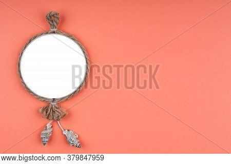Travel Or Summer Vacation Concept On Orange Background. Travel Template