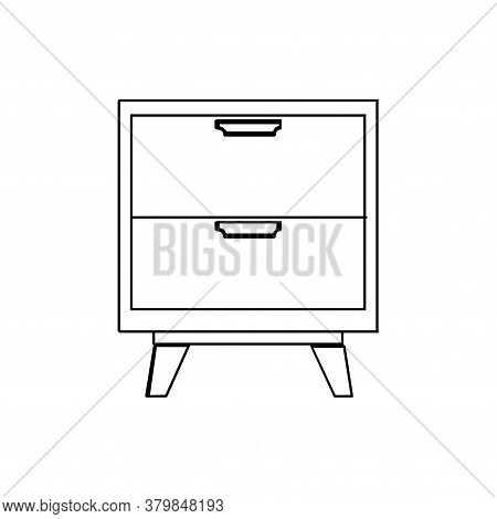 Badside Table Icon Vector. Badside Table Icon Isolated On White Bakcground From Furniture Collection