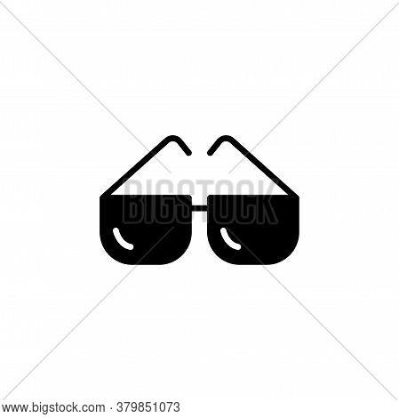 Glasses Vector Icon. Glasses Sign. Glasses Symbol. Glasses Simple Logo Black On White.