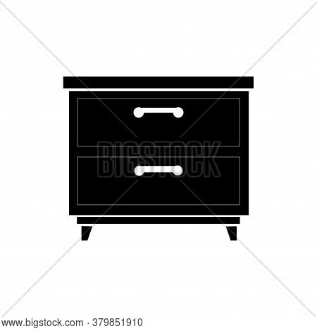 Badside Table Icon Vector. Badside Table Icon Isolated On White Background From Furniture Collection