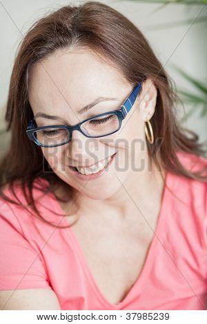 Latin Woman Smiling