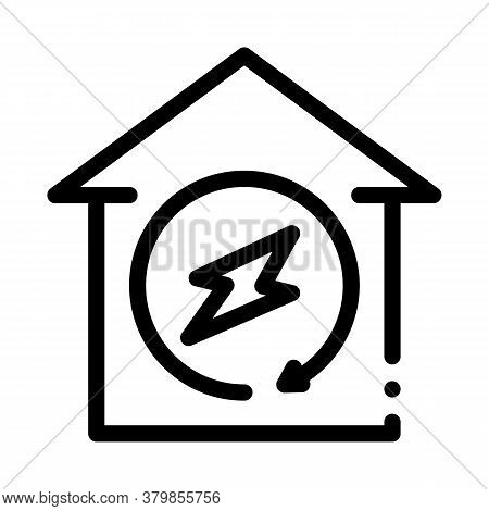 Smart City Wifi Cloud Icon Vector. Smart City Wifi Cloud Sign. Isolated Contour Symbol Illustration