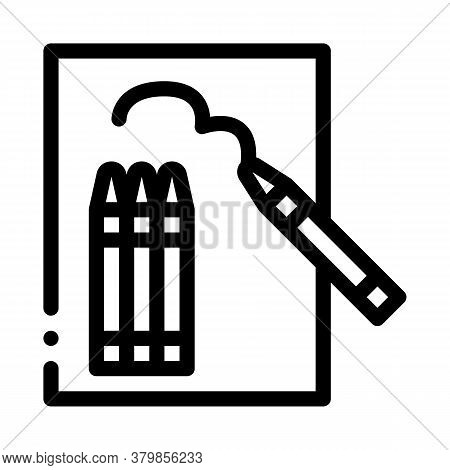 Painting Picture Icon Vector. Painting Picture Sign. Isolated Contour Symbol Illustration