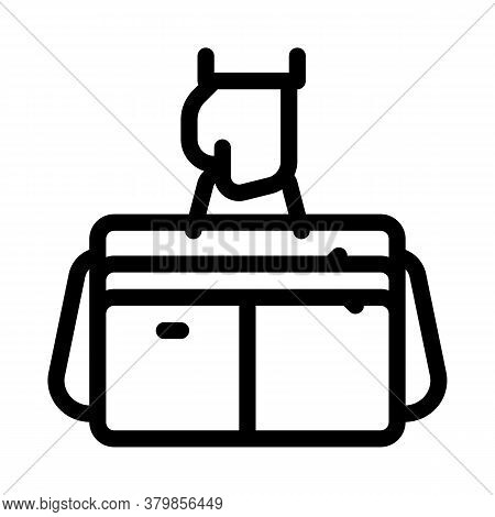 Hand Holding Case Icon Vector. Hand Holding Case Sign. Isolated Contour Symbol Illustration