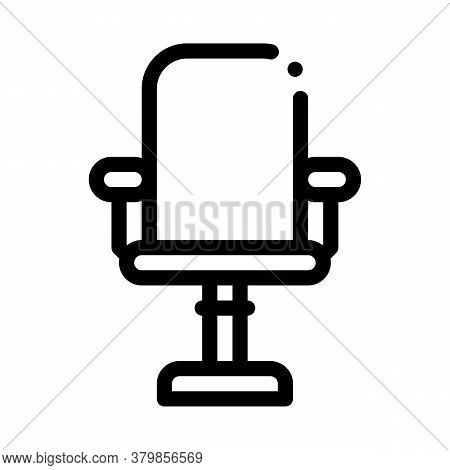 Office Chair Icon Vector. Office Chair Sign. Isolated Contour Symbol Illustration