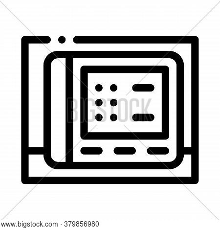 Stethoscope Tool Icon Vector. Stethoscope Tool Sign. Isolated Contour Symbol Illustration