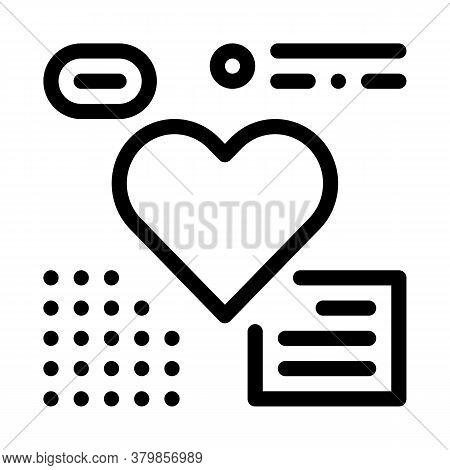 Heart Beat Examination Icon Vector. Heart Beat Examination Sign. Isolated Contour Symbol Illustratio