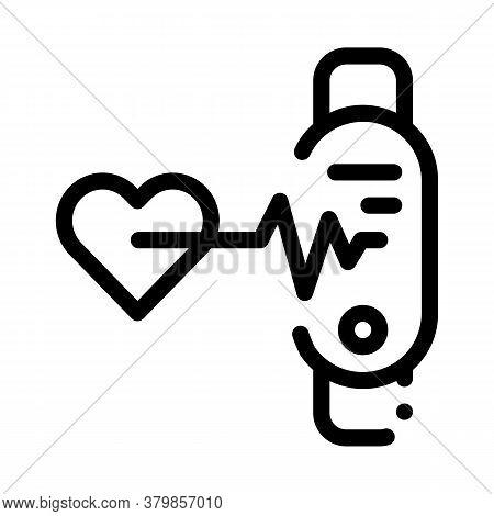 Heart Examination Icon Vector. Heart Examination Sign. Isolated Contour Symbol Illustration