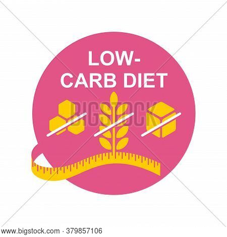 Low-carbohydrate Diet That Restrict Carbohydrate Consumption - Crossed Wheat, Honey And Sugar - Vect
