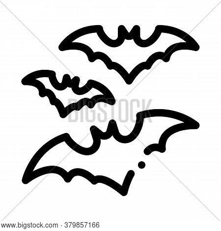 Halloween Bat Icon Vector. Halloween Bat Sign. Isolated Contour Symbol Illustration