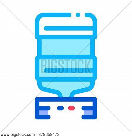 Office Water Cooler Icon Vector. Office Water Cooler Sign. Color Symbol Illustration