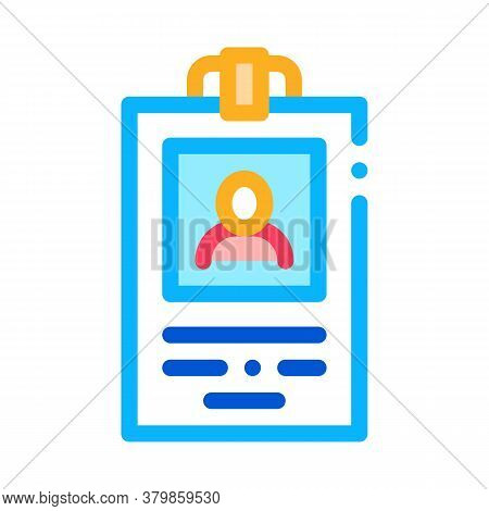 Office Employee Badge Icon Vector. Office Employee Badge Sign. Color Symbol Illustration