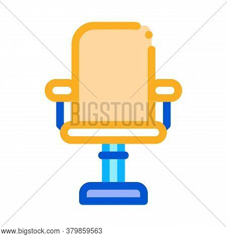 Office Chair Icon Vector. Office Chair Sign. Color Symbol Illustration