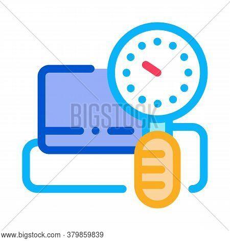 Blood Pressure Measuring Icon Vector. Blood Pressure Measuring Sign. Color Symbol Illustration