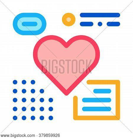 Heart Examination Icon Vector. Heart Examination Sign. Color Symbol Illustration
