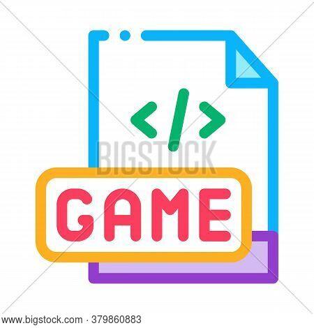Game Development Coding Icon Vector. Game Development Coding Sign. Color Symbol Illustration