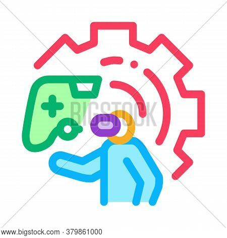Game Development And Testing Icon Vector. Game Development And Testing Sign. Color Symbol Illustrati