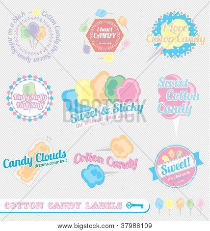 Vintage Cotton Candy Labels