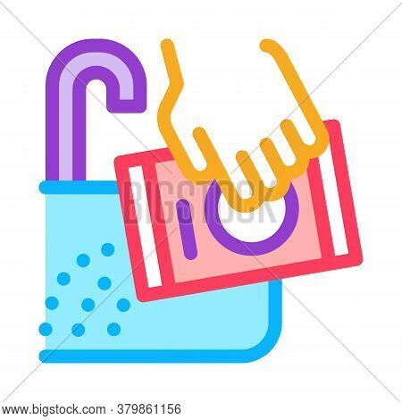 Canalisation Sink Drain Agent Icon Vector. Canalisation Sink Drain Agent Sign. Color Symbol Illustra