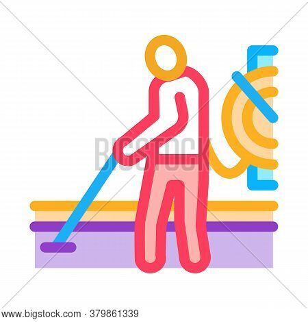 Drain Cleaning Service Icon Vector. Drain Cleaning Service Sign. Color Symbol Illustration