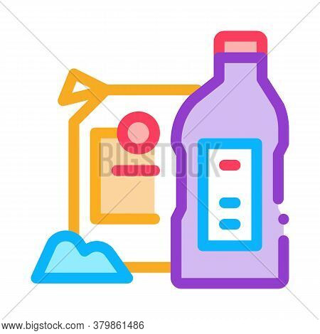 Drain Cleaning Agent Icon Vector. Drain Cleaning Agent Sign. Color Symbol Illustration