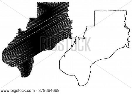Spencer County, Indiana (u.s. County, United States Of America, Usa, U.s., Us) Map Vector Illustrati