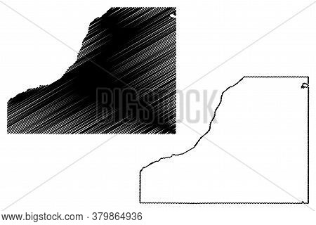 Starke County, Indiana (u.s. County, United States Of America, Usa, U.s., Us) Map Vector Illustratio