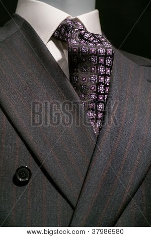 Striped Jacket and Patterned Tie (Vertical)