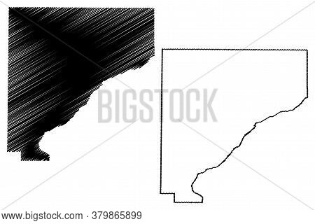 Warren County, Indiana (u.s. County, United States Of America, Usa, U.s., Us) Map Vector Illustratio