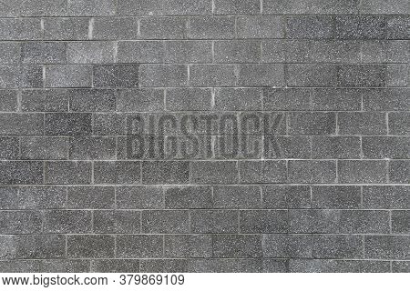 Dark Grey Large Stone Tall Block Wall Light Gray Color Grout With Shadows And Straight Lines Suitabl