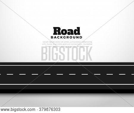 Straight Horizontal Asphalt Street Road Pathway Background