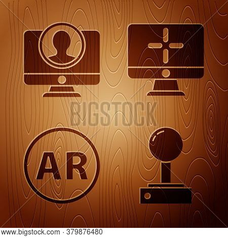 Set Joystick For Arcade Machine, Create Account Screen, Ar, Augmented Reality And Computer Monitor O