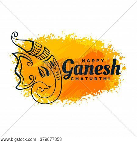 Creative Lord Ganesha Design Watercolor Festival Background