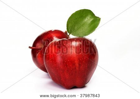 Two Apple's Isoalated On White
