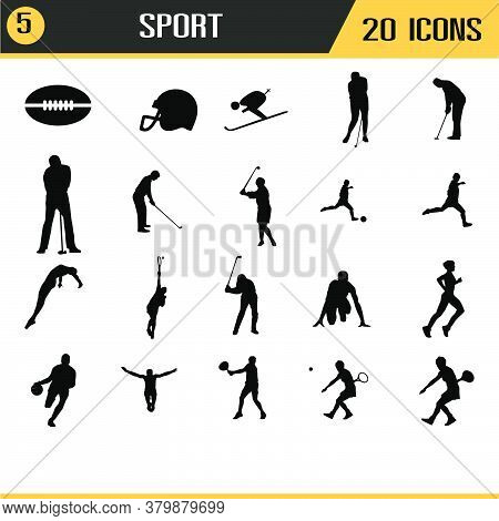 Vector Icons Of Sport