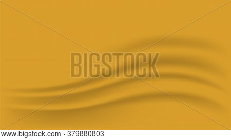 Gold Gradient And Wave Curve For Luxurious Background, Golden Fabric Cloth Smooth For Backdrop, Wavy