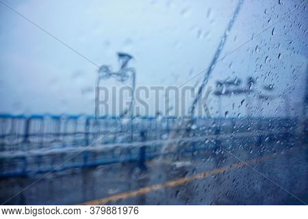 2nd Hoogly Bridge Under Rain, Monsoon Image Of Kolkata, West Bengal, India.