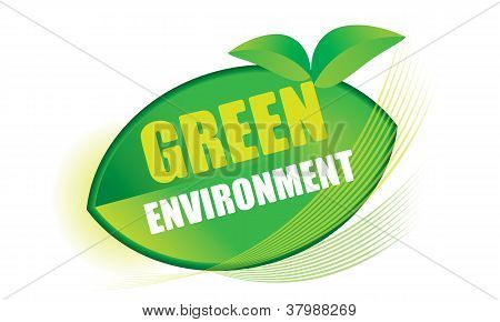 The abstract of Green environment concept in vector. poster