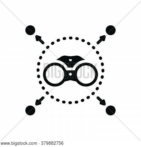 Black Solid Icon For Vision Gadget Eyesight Binocular Spectator Zoom Discovery Watch