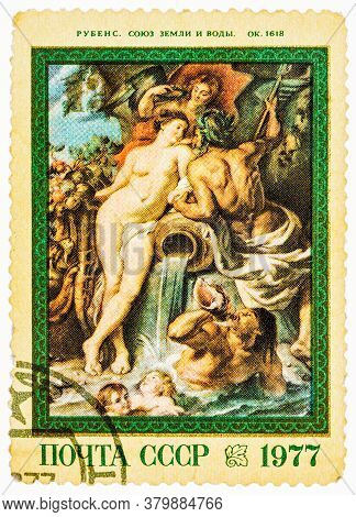 Ussr - Circa 1977: Postage Stamps Printed In Russia, Shows A Painting By Rubens From Hermitage Colle