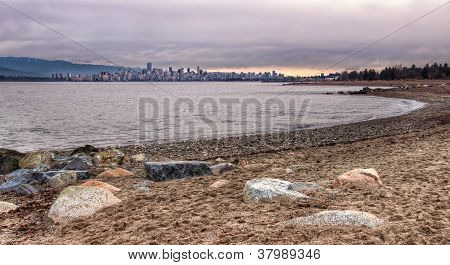 Vancouver Skyline From Jericho Beach